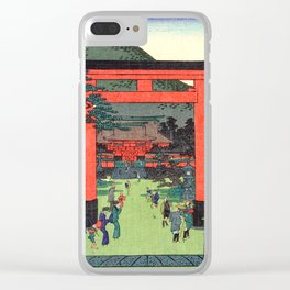 Fushimi Inari Shrine by Hasegawa Sadanobu - Japanese Vintage Ukiyo-e Woodblock Painting Clear iPhone Case
