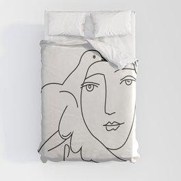 Picasso Dove Peace Women Duvet Cover