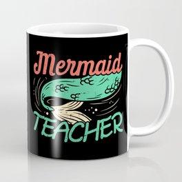 Mermaid Teacher Shirt Kindergarten Merman Sea Maiden Shark Funny Cute Mermaid Gifts Coffee Mug
