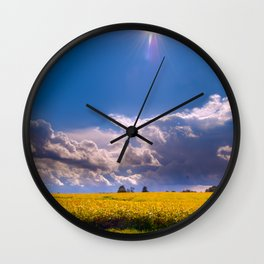 Sunshine on a Cloudy Day Wall Clock