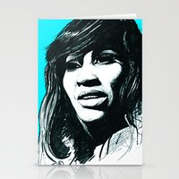 tina Stationery Cards featuring Tina Turner by ChrisGreavesCreative