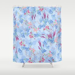 Flower Pattern Shower Curtain