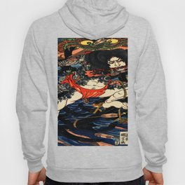 The Tattooed Samurai Traditional Japanese Character Hoody