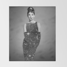 Audrey Hepburn Throw Blanket