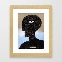black head Framed Art Print