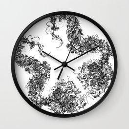 Study in Symmetry (No. 1) | Black & White Wall Clock