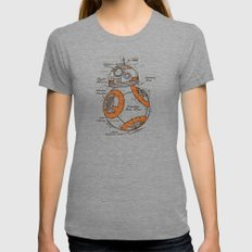 BB-8 Womens Fitted Tee LARGE Tri-Grey