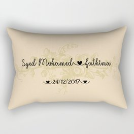 Customised Wedding Gift Rectangular Pillow