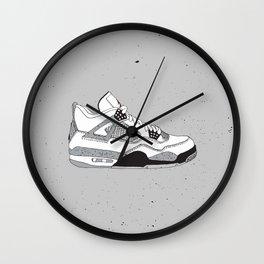Jordan 4 White Cement Wall Clock