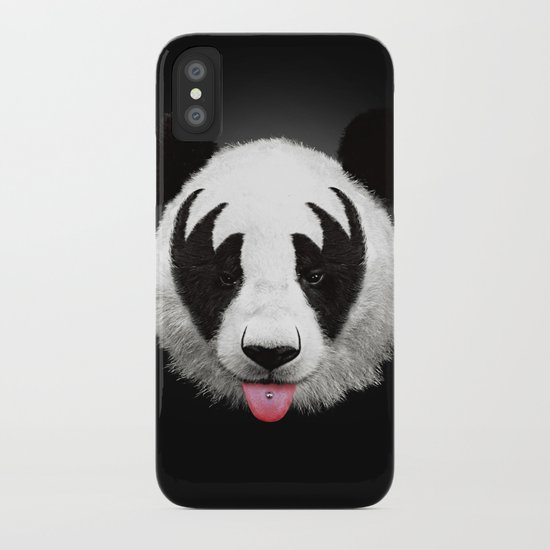 Kiss of a panda iPhone Case