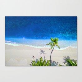 Exotic Tropical Island Beach Palm Canvas Print