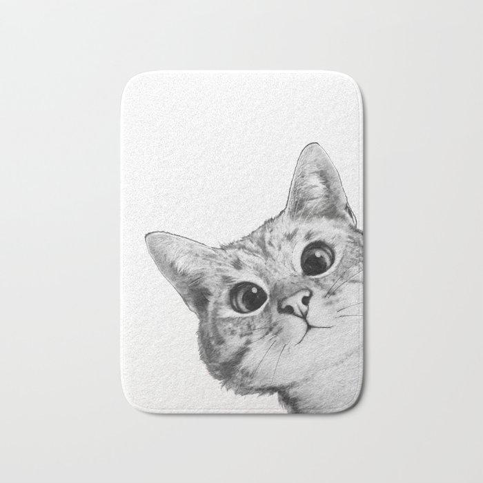 sneaky cat Badematte
