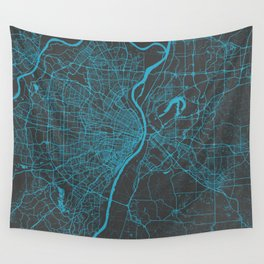 Saint Louis Map Wall Tapestry