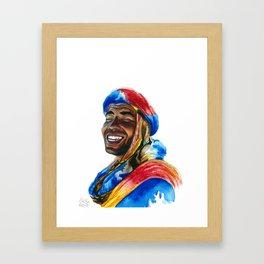 Colourful Moroccan Berber Framed Art Print