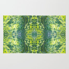 Psycho - Sea Turtle Illusions Swimming in a Yellow Happy Place by annmariescreations Rug