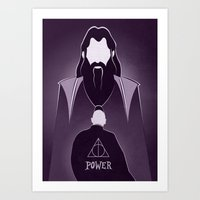 dumbledore Art Prints featuring Dumbledore Tribute.  by LADY2