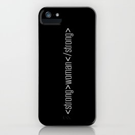 Strong Woman iPhone Case