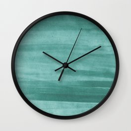 Emerald Green Watercolor Wash Wall Clock