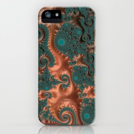 Copper Leaves - Fractal Art iPhone Case