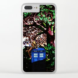 Tardis And Dr.Who 1 Clear iPhone Case