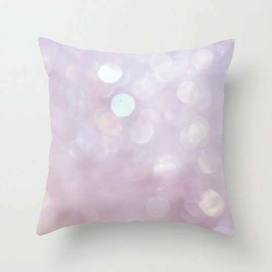 Bokeh Series - English Lavender Throw Pillow