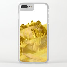 """Gold brushstrokes"" Clear iPhone Case"