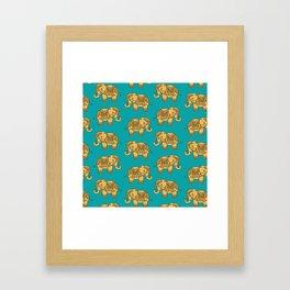 Elephant Pattern Framed Art Print