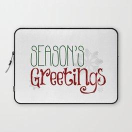 Season's Greetings   Snowflakes Laptop Sleeve