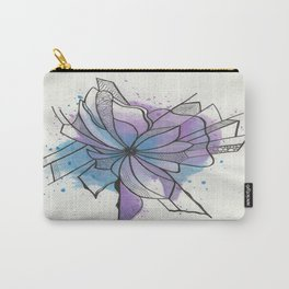 Explosion Flower Blue and Purple Carry-All Pouch
