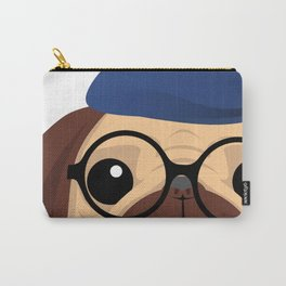 Cute Artistic Pug Puppy Lover Glasses  Carry-All Pouch