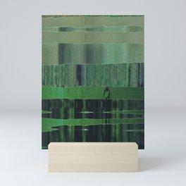 green scan Mini Art Print