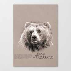 Bear (BornInNature) Canvas Print