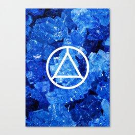 Sapphire Candy Gem Canvas Print