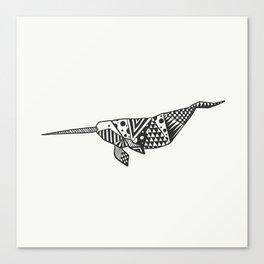 Unicorn of the seas Canvas Print