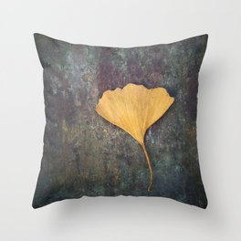 Ginkgo Leaf Throw Pillow