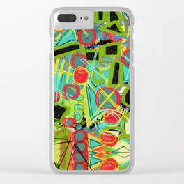 Geometric Explosion 1 Clear iPhone Case