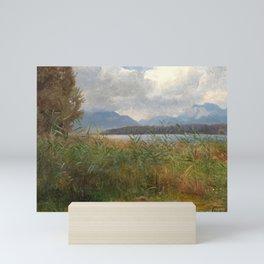 Hans Gude Painting -  Sivstudie Chiemsee 1867  | Reproduction | Norwegian Art Mini Art Print