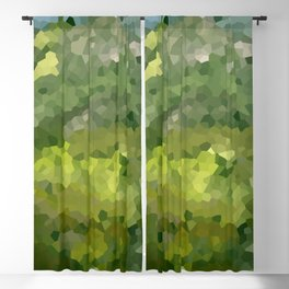 Mountain Forest Green Life Adventure Blackout Curtain