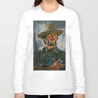 clint eastwood Long Sleeve T-shirts featuring  Clint Eastwood by andy551