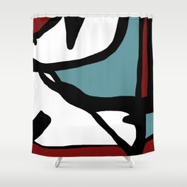 Abstract Painting Design - 1 Shower Curtain