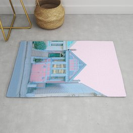 San Francisco Painted Lady Victorian House Rug