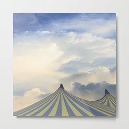 Turrets in the Clouds Metal Print