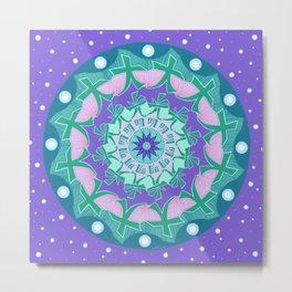 Soul Healing Mandala Metal Print