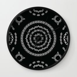 Typographic Pattern – A (Helvetica) Wall Clock