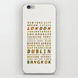 Travel World Cities iPhone Skin