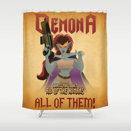 Demona Propganda Shower Curtain