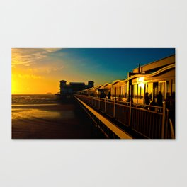 Sunset at Weston Pier  Canvas Print