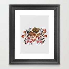 Autumnal Fungi Framed Art Print