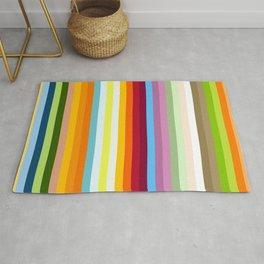 Multicolored Retro Stripes Mngwa Rug