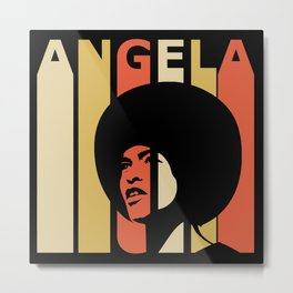 Angela Davis Retro Homage Metal Print